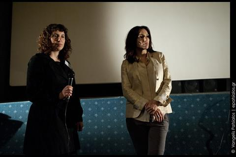 Actress Aure Attica (in the film Skylab by Julie Delpy) at the presentation of the film
